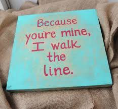 Quote <b>Painting Johnny</b> Cash Walk the Line <b>Canvas</b> Turquoise Red ...