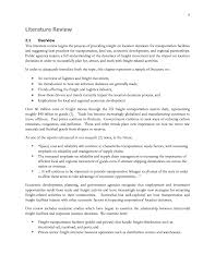 literature review background research material for freight page 10