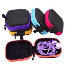 <b>Earphone Headset</b> Case Charger Pouch <b>USB Cable Storage</b> ...