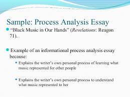 examples of process essays process analysis pp engl   final stray away from summarizing the