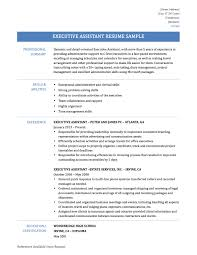 executive assistant resume sample tips and templates executive assistant resume
