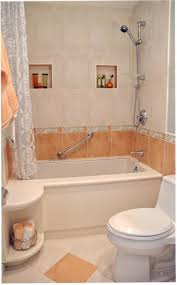 light brown small bathroom