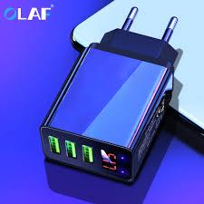 <b>Olaf LED</b> Display 3 <b>USB</b> Charger QC 3.0 3A Fast Charging For ...