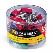 <b>Brauberg Зажимы для</b> бумаг на 230 листов 12 шт. - Акушерство.Ru