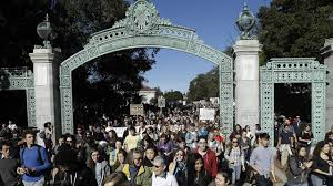 uc regents increase tuition students march under sather gate during a protest about tuition increases at the university of california