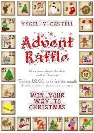 in school daily advent raffle ysgol y castell pta a