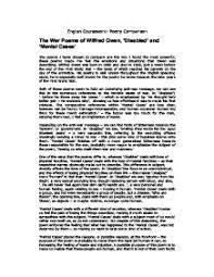 essay war poems wilfred owen disabled  one click essays   www  essay war poems wilfred owen disabled