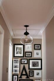 little house of four new hallway light update best lighting for hallways