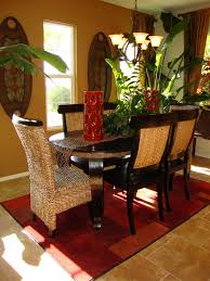 ideas dining room decorating ideas: decoration dining room gorgeous oval dining table with vintage dining chair on rectangular brown dining carpet