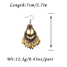 <b>TopHanqi Indian Jhumka Jewelry</b> Gold Leaf Dangle Earrings For ...