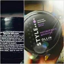 Отзывы о <b>Матовый воск для</b> волос Ollin