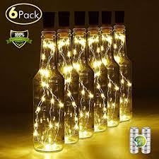 Wine Bottle Light with Cork, 6 Pack Battery Operated ... - Amazon.com