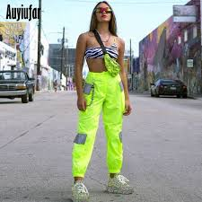 AMD 8,707.61 51% Off | <b>Auyiufar</b> Neon Reflective Pants <b>Streetwear</b> ...