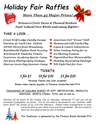 holiday fair basket raffle s florence roche boutwell pta holiday fair raffle flyer page 001 1