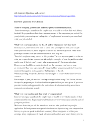 best photos of interview question and answer format sample job interview questions and answers samples