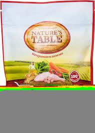 <b>Сухой корм</b> для кошек <b>Natures Table</b> Курица 190г - купить с ...