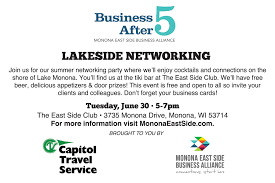 business after 5 lakeside networking at the east side club share this invite friends