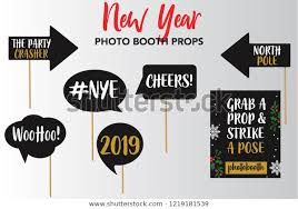 Merry <b>Christmas New</b> Year Photo Booth Stock Vector (Royalty Free ...