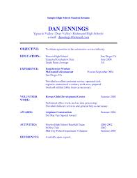 Sample Resume For High School Graduate  cover letter sample resume     resume for high school students with no experience template   examples of resumes for high school