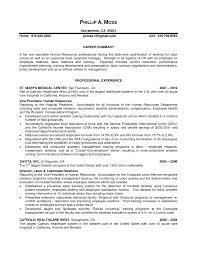 resume sample human resources  seangarrette cohuman resources manager resume of director   resume