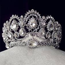 <b>Luxury</b> Bridal Tiara <b>big Rhinestone crystal</b> Queen Crown Wedding ...