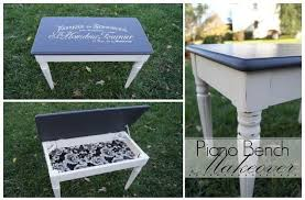 piano bench makeover chalk paint painted furniture bench painted chalk paint