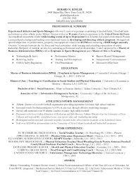 athletics director resume   sales   director   lewesmrsample resume  gerard kinler athletic director resume n