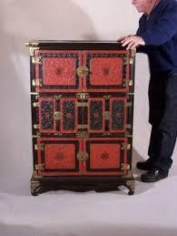 antique korean cinnabar and black lacquer apothecary or vintage medicine chest amazoncom oriental furniture korean antique style liquor