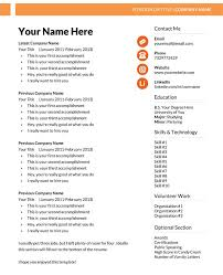 resume template microsoft word format sample in word free download word formatted resume