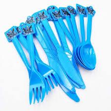 30pcs/set Batman Disposable Knives <b>Forks Spoon</b> Party Supplies ...