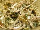 Салат с маринованными шампиньонами свежим огурцом