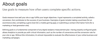 how to get actionable data from google analytics in 10 minutes in other words goals measure how and when people complete specific actions that you want them to complete