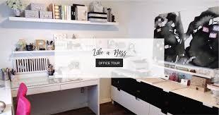 girl boss office tour glam home office ikea <b>craft</b> room <b>minimal craft</b> ...