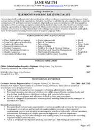 images about best banking resume templates  amp  samples on    click here to download this telephone banking sales specialist resume template  http