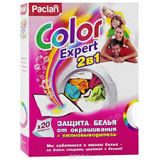 <b>Paclan салфетки</b> для стирки <b>Color Expert</b> 2 в 1 с пятновыводителем
