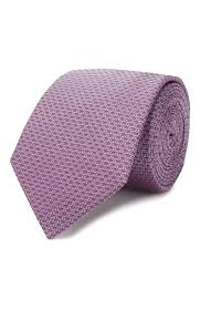 Мужской сиреневый <b>шелковый галстук HUGO</b> — купить за 4500 ...