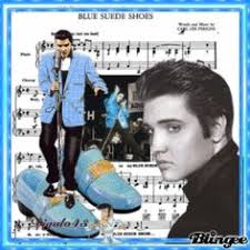 「elvis presley blue suede shoes」の画像検索結果