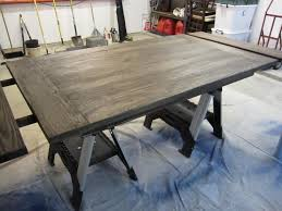 Restaining Kitchen Table Dining Room Table Before After Houston Furniture Refinishing