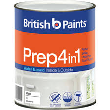 British Paints 1L White Prep <b>4 in 1 Acrylic</b> Sealer Primer Undercoat