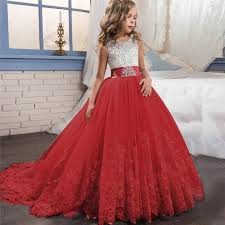 <b>Girl Dress Bridesmaid Pageant</b> Gown Dress Girl Kids Dresses for ...