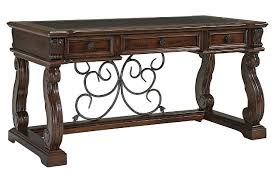 rustic brown alymere 60 alymere home office desk