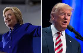Image result for DONALD TRUMP AND CLINTON