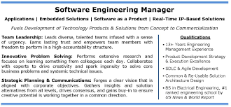 software engineering manager profile it tech exec software engineer resume