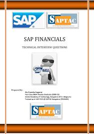 sap financials technical interview questions