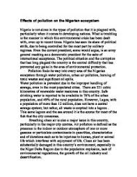 deforestation of the amazon rainfores  humanities essay   gcse    effects of pollution on the nigerian ecosystem