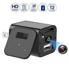 Mini Spy Camera Wall Charger Camera - 1080P HD USB Hidden ...