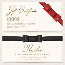 voucher gift certificate card coupon invitation template red 1 credit