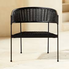 Boomerang Lounge Rattan <b>Tub Chair Black</b> + Reviews | CB2