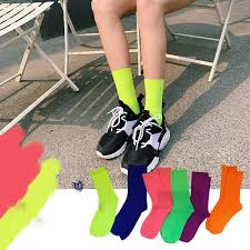 Women Fashion <b>Candy Color</b> Socks Summer Cool Girl Solid Cotton ...