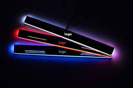 <b>eOsuns LED moving</b> door scuff Nerf Bars& Running Boards door sill ...